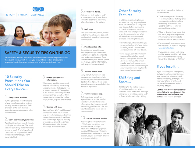 Safety & Security Tips on the Go Brochure