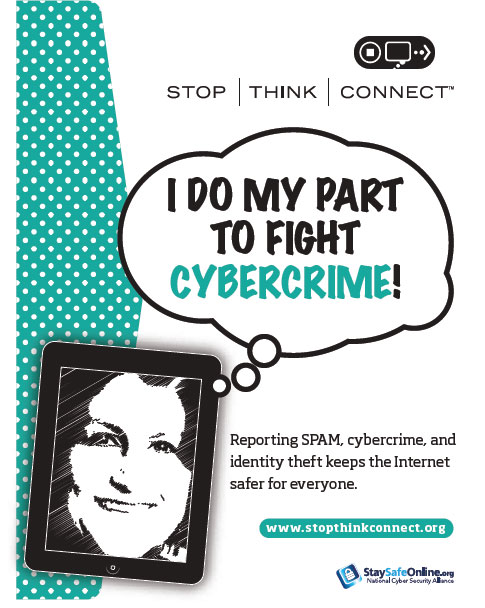I Do My Part To Fight Cybercrime Poster
